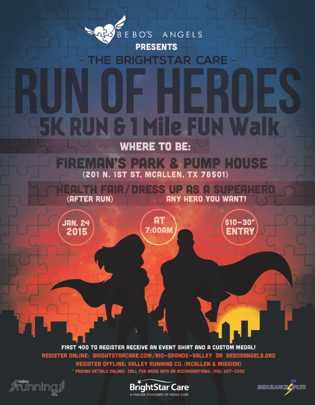 BE A HERO AND RUN/WALK FOR AUTISM