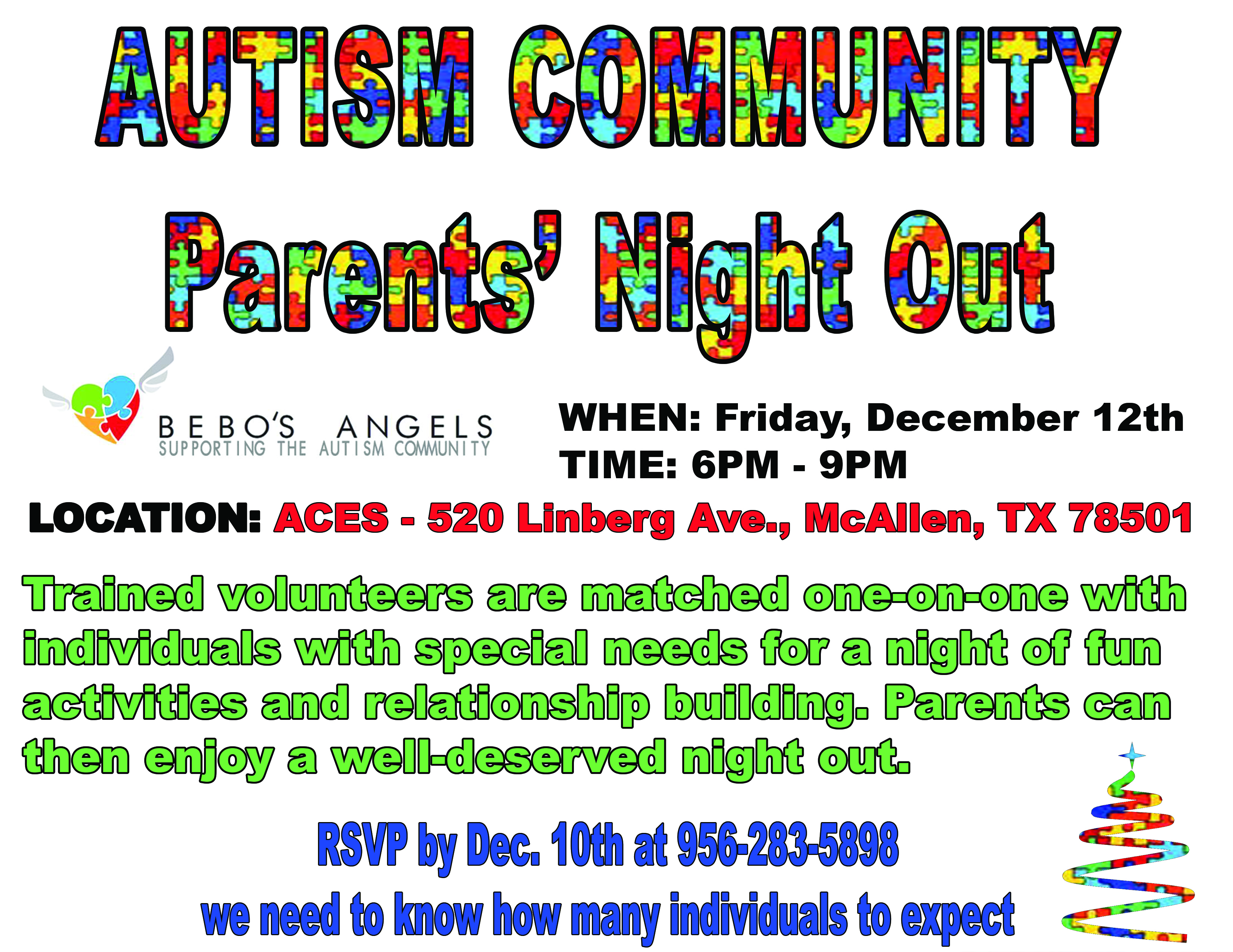 Autism Community Parents' Night Out
